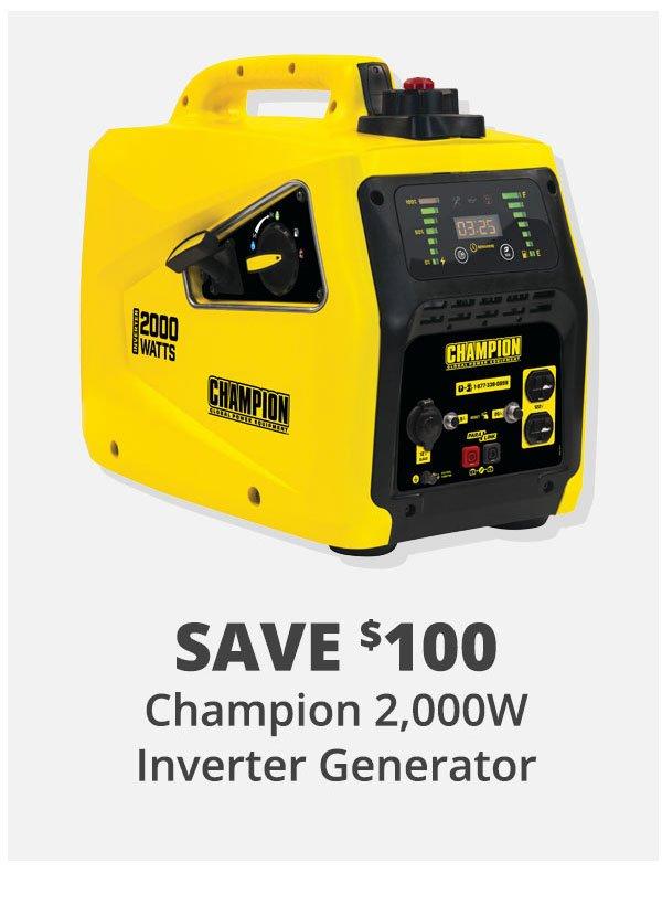 Champion 2,000W Inverter Generator