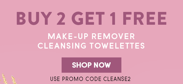 Buy 2, Get 1 Free Makeup Cleansing Towelettes