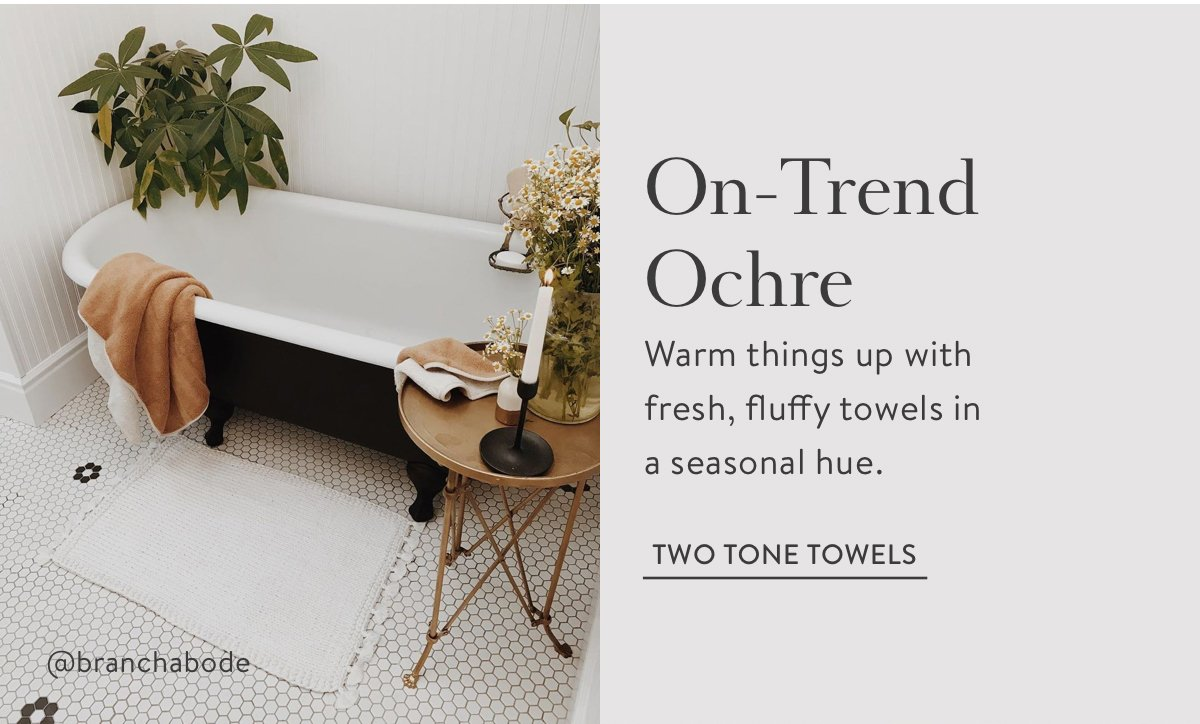 Two Tone Towels - Ochre
