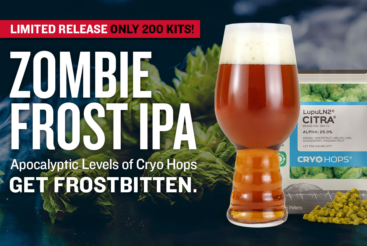 Zombie Frost IPA Beer Recipe Kit