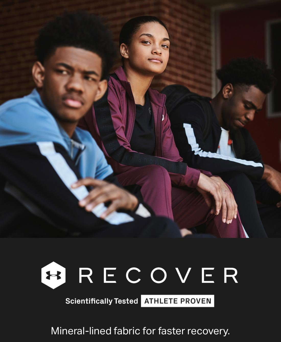 UA RECOVER - Scientifically Tested ATHLETE PROVEN - Mineral-lined fabric for faster recovery.