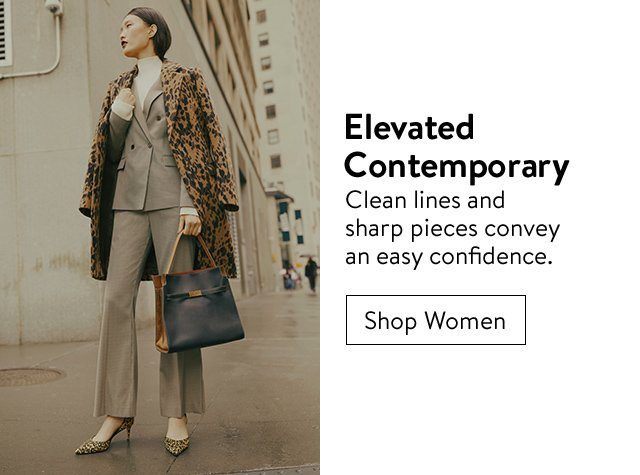 Elevated contemporary: women's clothing.