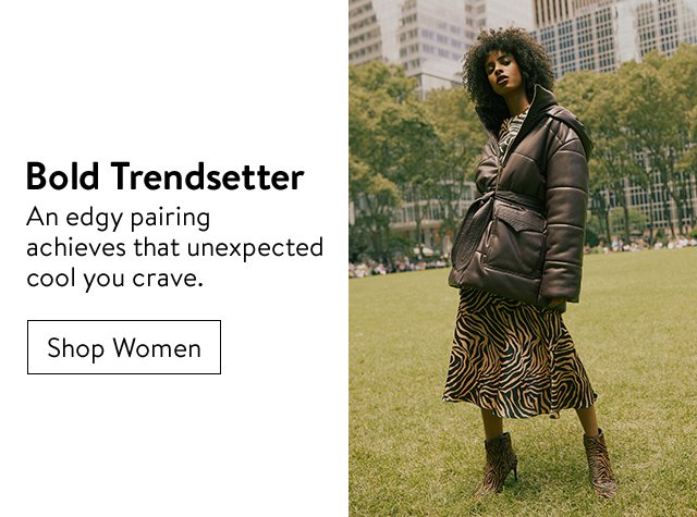 Bold trendsetter: women's clothing.