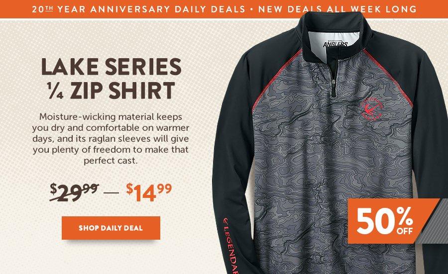 Men's Lake Series 1/4 Zip Shirt