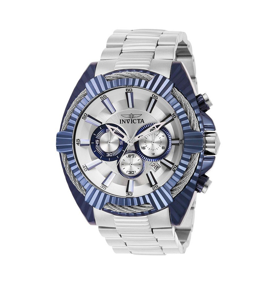 Invicta Bolt Mens Quartz 50 mm Light Blue Case Silver, Light Blue Dial