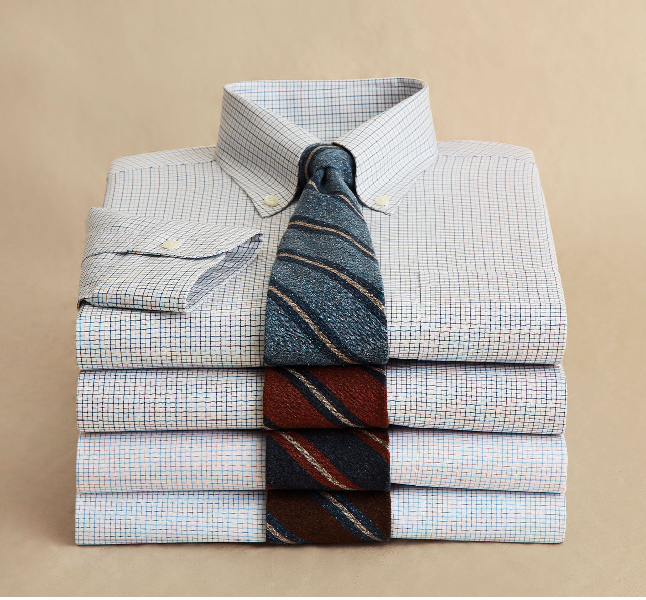 Meet Your Match - Some things are just better together - such as our dress shirts and ties. Now 25% off 3 or more shirts for a limited time.**