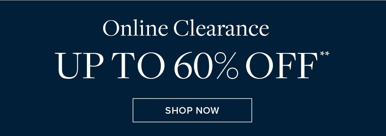 Online Clearance Up To 60% Off Shop Now