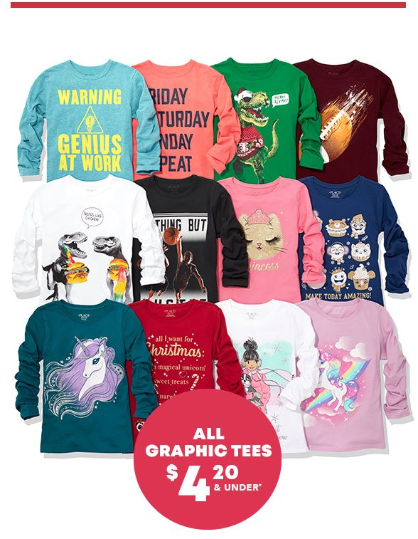 All Graphic Tees $4.20 & Under