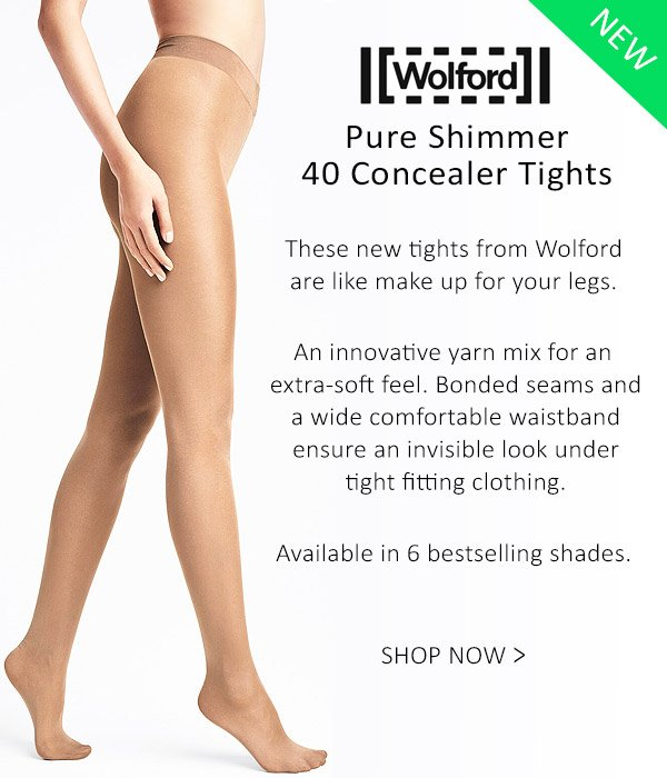 Wolford Pure Shimmer 40 Concealer Tights