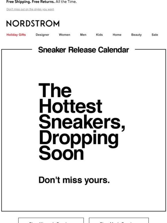 Nordstrom: Sneaker calendar: limited