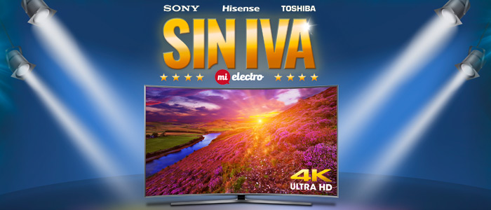 Sin iva en Sony, Hisense y Toshiba