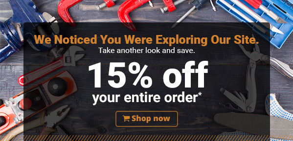 Take another look and save. 15% off your entire order. Shop Now!