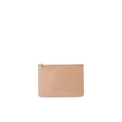 Alexander McQueen Soft Patent Zip Clutch Bag, Boudoir