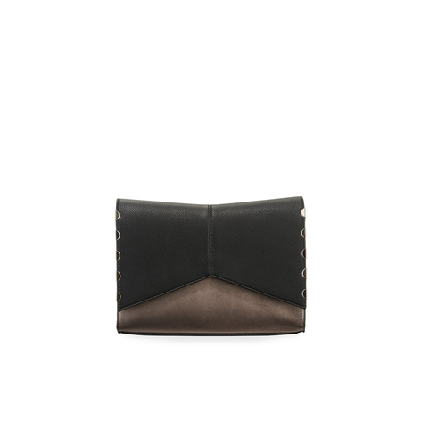 Neiman Marcus Masie Two-Tone Clutch Bag