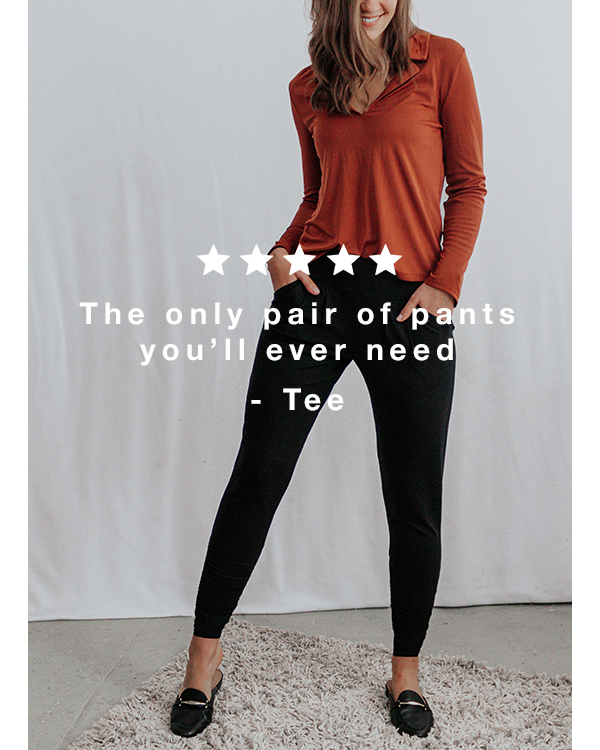 """""""The only pair of pants you&squot;ll ever need"""""""