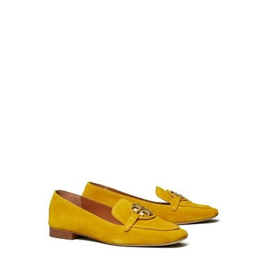 Tory Burch Miller Metal-Logo Loafer, Suede