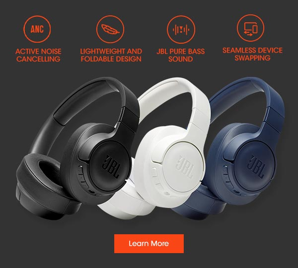 Features: Active Noise Cancelling, Lightweight & Foldable Design, JBL Pure Bass Sound & Seamless Device Swapping