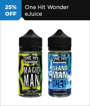 25% off One Hit Wonder eJuice
