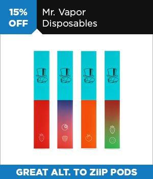 15% off Mr. Vapor Disposable Vapes