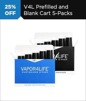 25% off Prefilled and Blank Cart 5-Packs