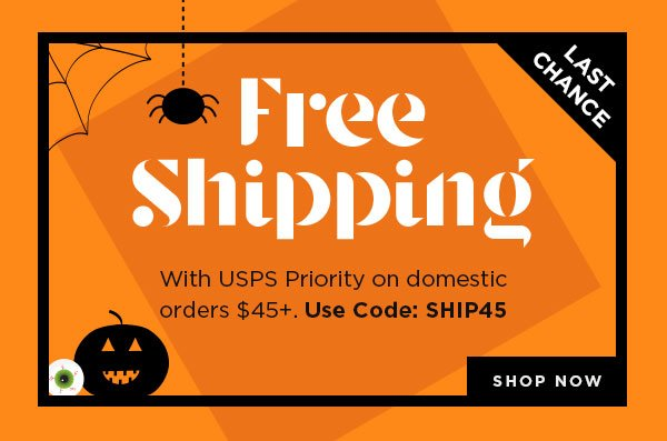 Free Domestic Shipping on Orders $45+