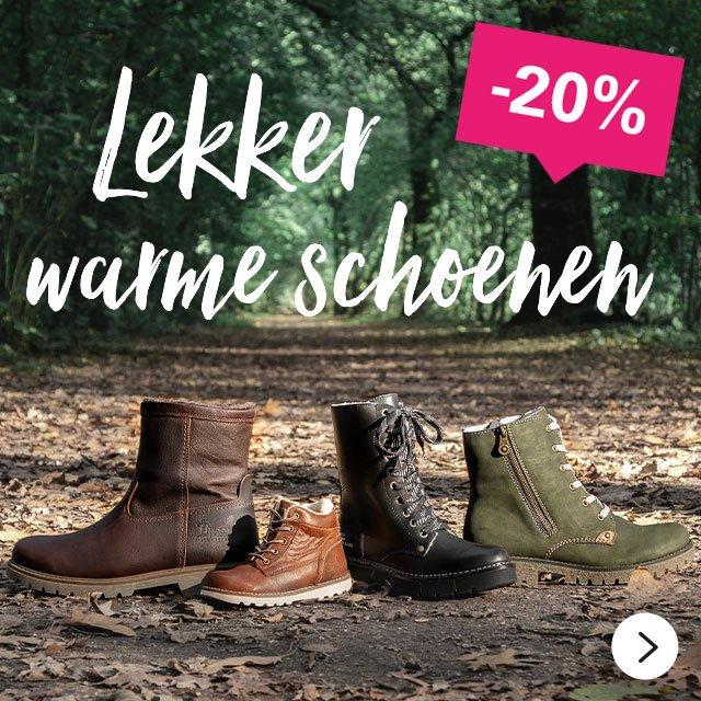 -20%   Lekker warme schoenen >