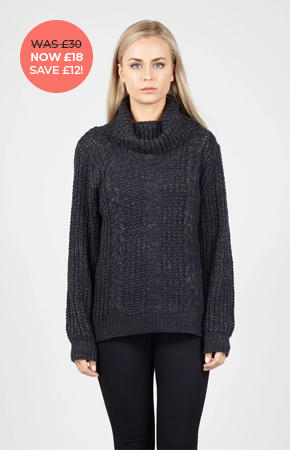 CABLE KNIT TURTLENECK JUMPER £18.00