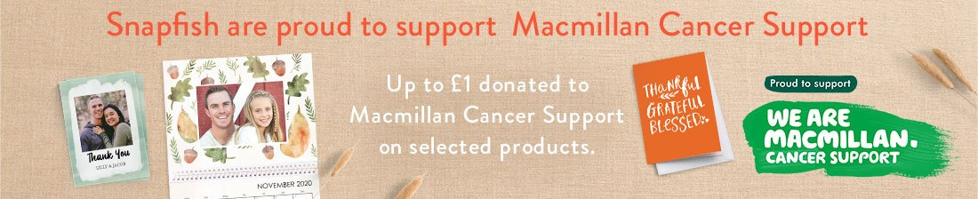 Snapfish are proud to support Macmillan Cancer Support