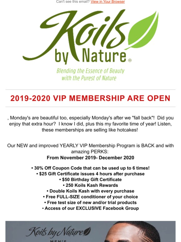 Koils By Nature There Our Amazing Vip Membership Is Officially Open Milled