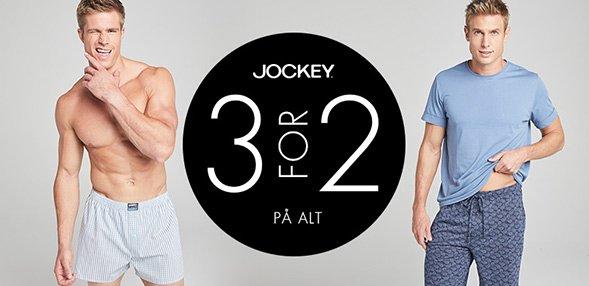 Jockey   3 for 2 på alt