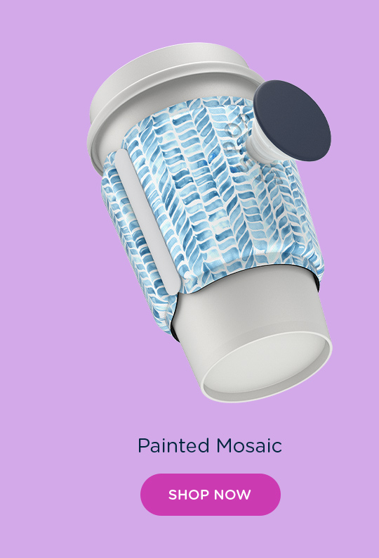 Shop PopThirst Cup Sleeve Painted Mosaic