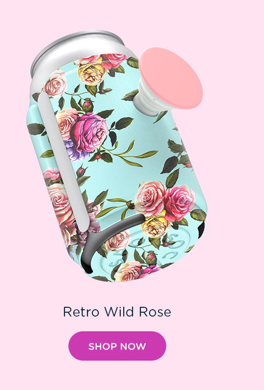 Shop PopThirst Can Holder Retro Wild Rose
