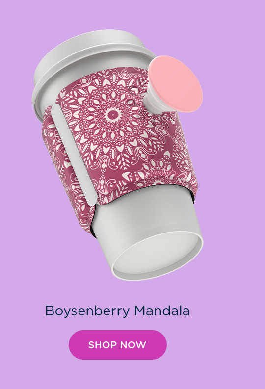 Shop PopThirst Cup Sleeve Boysenberry Mandala