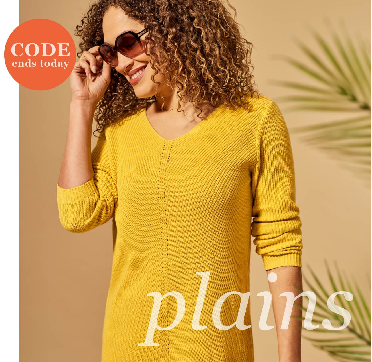 Womens Cotton Pointelle Detail Jumper in Dandelion Yellow