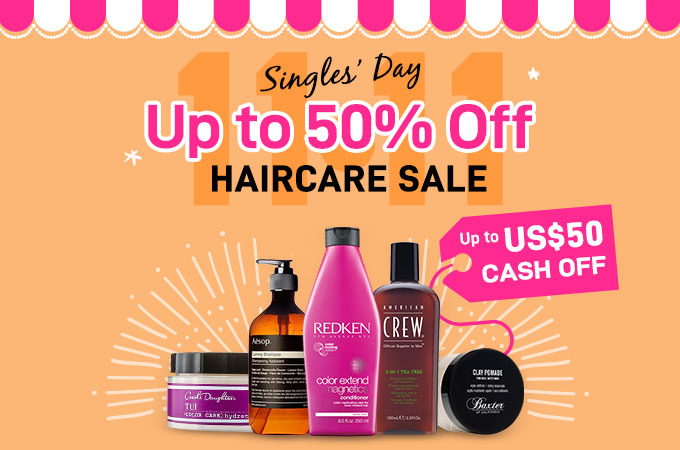 11.11 Single's Day Instant Cash Off! Up to US$50 Off at checkout! T&Cs apply