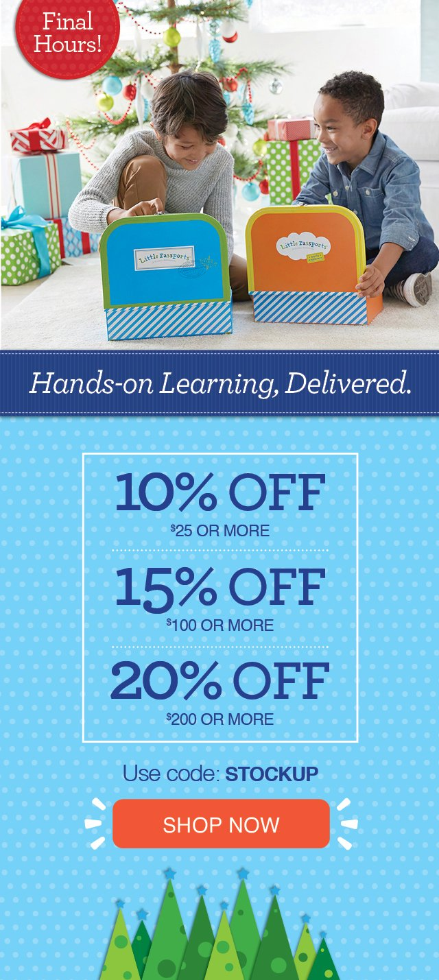 The Perfect Gift for Curioius Kids! Save 10% on $25 or more, 15% on $100 or more, 20% on $200 ore more