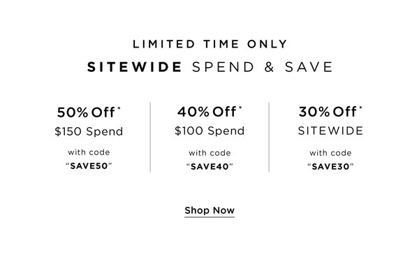 Shop Up to 50% Off Sitewide With Spend & Save