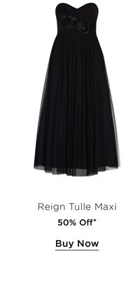 Shop 50% Off the Reign Tulle Maxi Dress