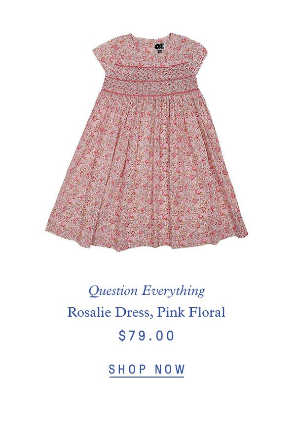 Question Everything Rosalie Dress, Pink Florals $79.00