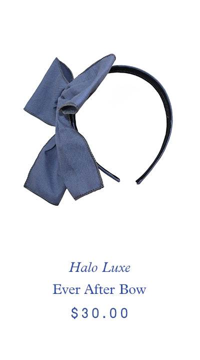 Halo Luxe Ever After Bow, Chambray $30.00