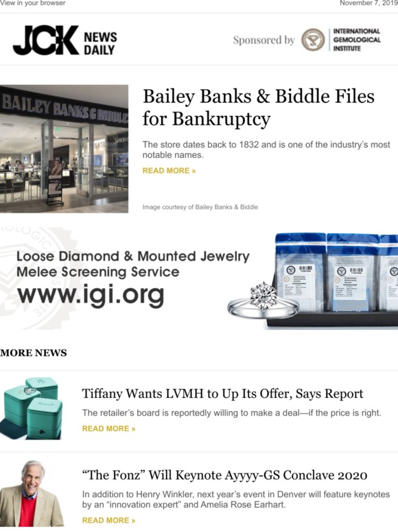 Jck Bailey Banks Biddle Files For Bankruptcy Milled