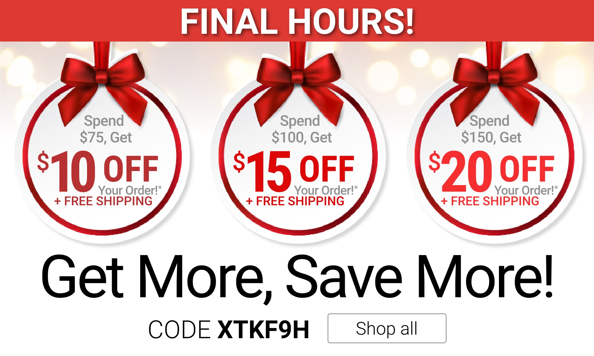 Final Hours Get More, Save More!