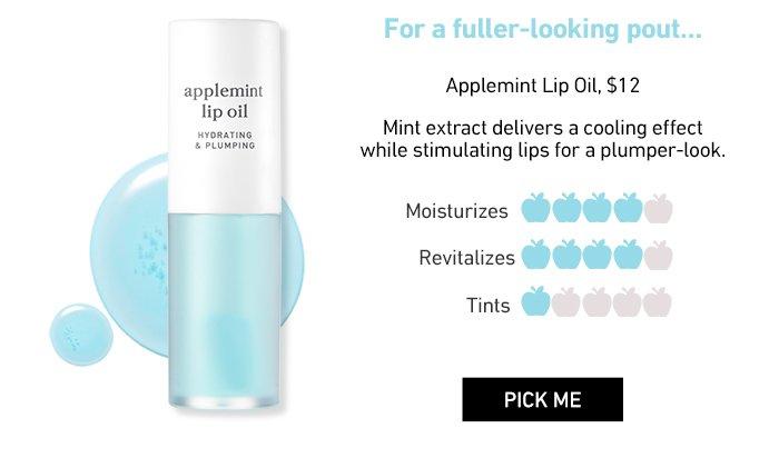 Nooni Applemint Lip Oil, $12