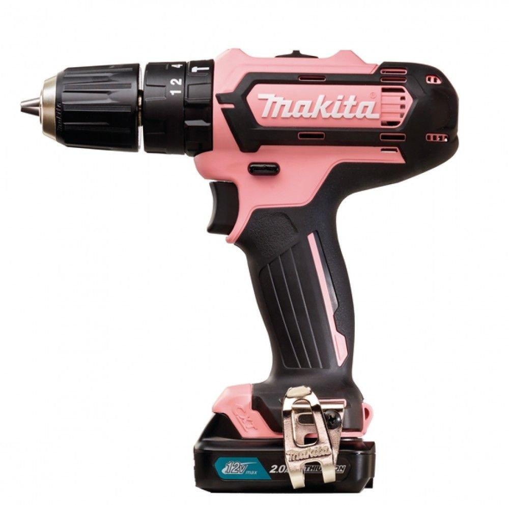Makita CXT HP331DSAP1 12V Dames Roze Klopboor-/schroefmachine met 2.0 ah accu