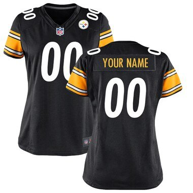Pittsburgh Steelers Nike Women's Custom Game Jersey - Black