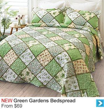 Green Gardens Bedspread