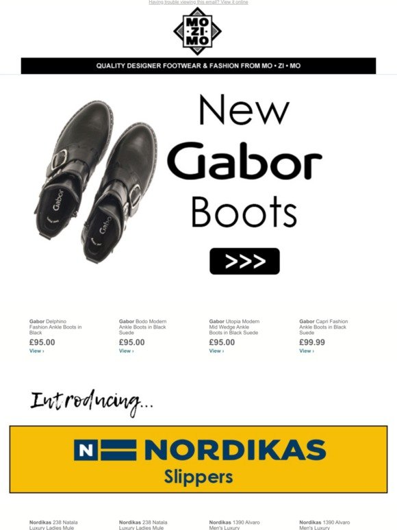 pre order super cute arriving Mozimo: This Week's Gabor Boots | Introducing Nordikas Slippers ...