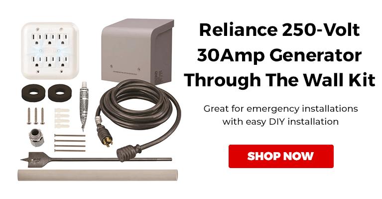 Reliance WKPBN3010 250-Volt 30-Amp Generator Through The Wall Kit w/ PC3010M