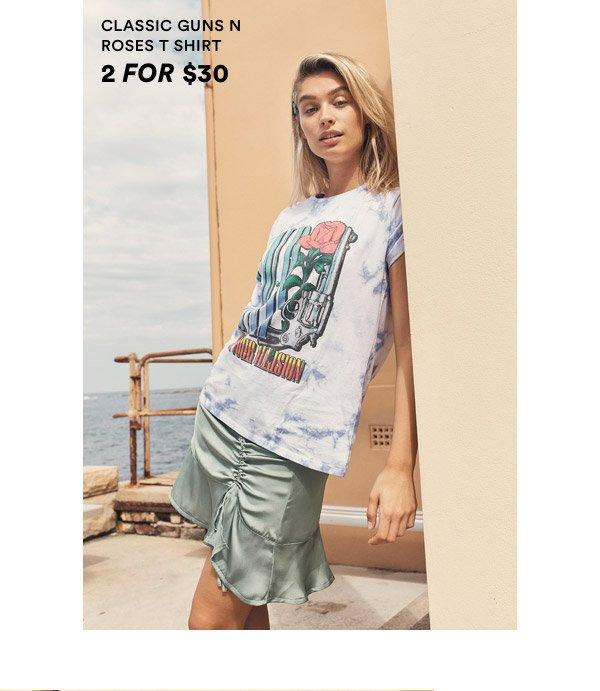 Classic Guns n Roses T Shirt 2 For $30