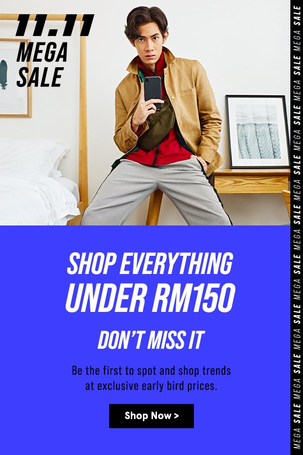 Everything UnderRM150 Shop Now